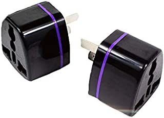 2 x New Travel Adapter International into Australia 3 pin Plug 2000 W (Black)