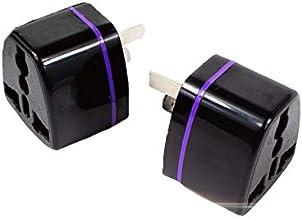 2 x New Travel Adapter International into Australia 3 pin Plug 2000 W (Black)