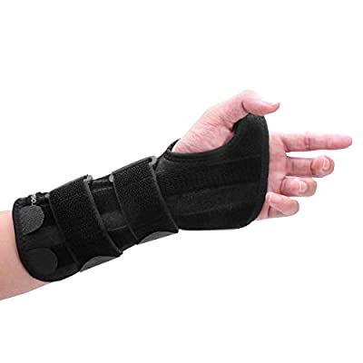 ROSENICE Wrist Brace - Carpal Tunnel Brace Hand Wrist Splint Support with 3 Removable Aluminum Alloy - Big Thumb Hole for Arthritis Tendonitis Wrist Sprain Pain Relief, Fit Both Hands