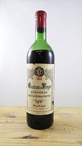 Wein Jahrgang 1969 Château du Verger Flasche