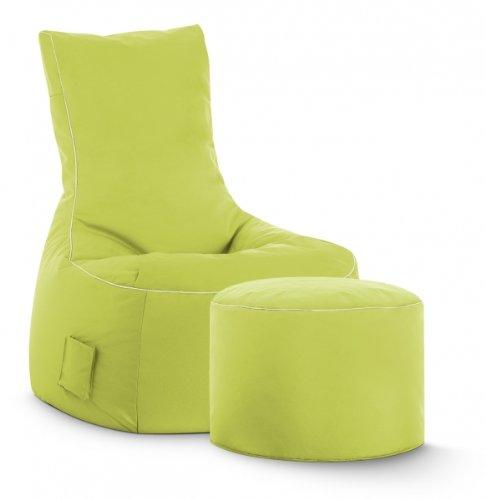 SITTING POINT only by MAGMA Sitzsack-Set Scuba Swing + Hocker grün