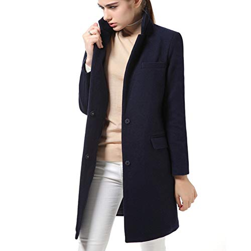 GDCAKMI Frauen Mantel Stil hochwertigen Mantel Herbst und Winter Strickjacke grauen Mantel schlank elegant gemischt Neue Frauen