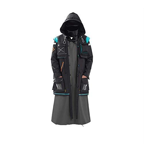 ULLAA Spiel Arknights Doctor Halloween Karneval Cosplay Kostüm Outfit mit Zubehör Robe Uniform Anzüge für Frauen Männer Full Set Plus Size