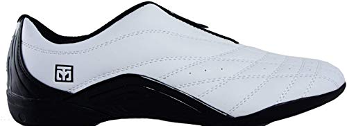 Mooto Wings Korea Taekwondo Shoes TKD Competition Twotone&Black 4 1/2 to 14 (Black & White, 285mm(US 10))