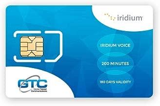 Iridium Satellite Phone Global Prepaid SIM Card with 200 Minutes (180 Day Validity)