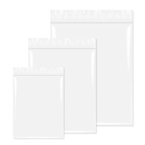 100 Stück Druckverschlußbeutel in 350x450 mm 90 mµ, Transparent, unbedruckt, Lebensmittelgeeignet