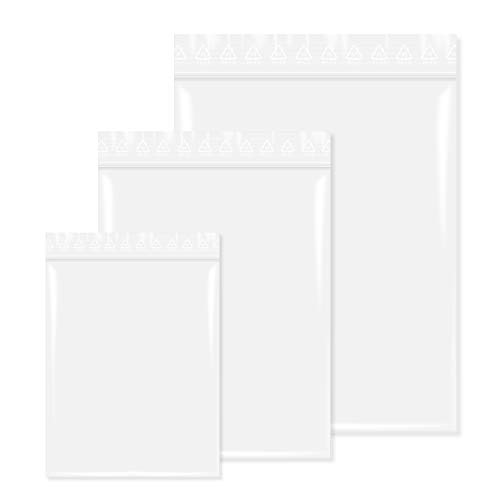 500 Stück Druckverschlußbeutel in 80x120 mm 90 mµ, Transparent, unbedruckt, Lebensmittelgeeignet