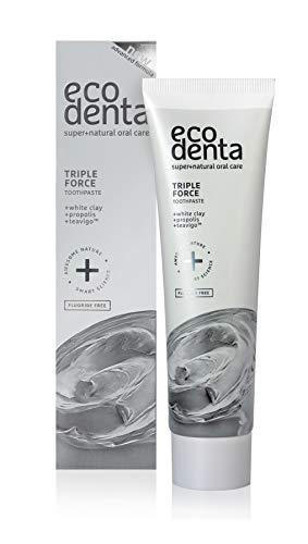 Ecodenta Zahnpasta Ohne Fluorid Triple Force Toothpaste 75ml I Reinigt Stärkt Vermindert Empfindlichkeit Der Zähne Und Des Zahnfleisches