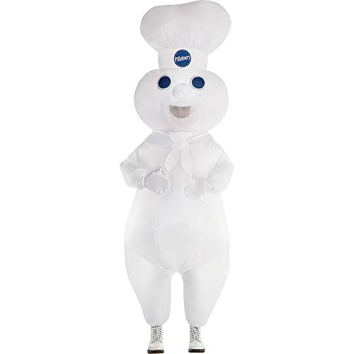 Party City Pillsbury Doughboy Inflatable Halloween Costume for Adults, Standard Size, Includes Jumpsuit and Built-in Fan
