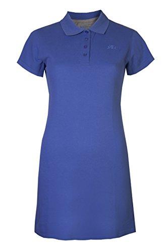 Brody & Co Abito polo da donna, piqué, a maniche corte, vestito sportivo da tennis, golf, badminton e palestra Blue 42