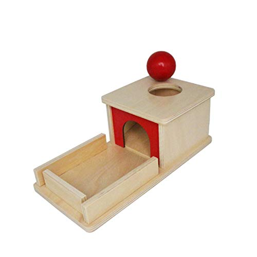Caja de permanencia de Objetos con Bandeja y Bola, Juego de Juguete Educativo de Madera Montessori, Seguro y no tóxico, desarrolla Inteligencia, Regalo para bebés, bebés y niños pequeños