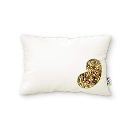Bean Products WheatDreamz 14 x 20 Japanese Pillow -Organic Cotton Zippered Shell Filled with Organic Millet - Made in USA