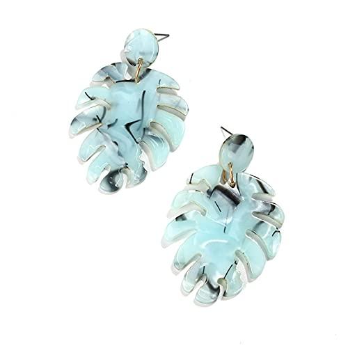 1 pz orecchini da donna personalità acrilico a forma di foglia pendente orecchini