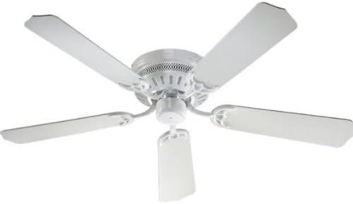 "popular Quorum discount International 52"" 5-Blade Custom sale Hugger Ceiling Fan - White - 11525-6 sale"