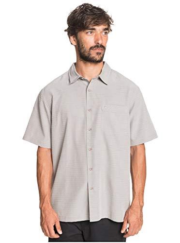 Quiksilver Herren Centinela 4 Woven Hemd mit Button-Down-Kragen, Flint Gray Centinella, Groß
