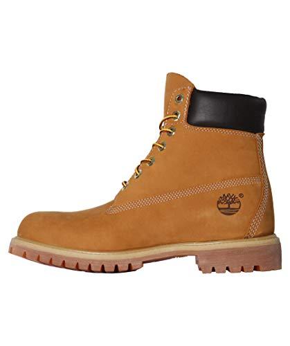 Timberland Men's 6 inch Premium Waterproof Boot Fashion, Wheat Nubuck, 7.5