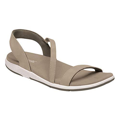 Regatta Santa Louisa' PU Leather Textile Covered Footbed Lightweight Rubber Outsole Sandals, Sandalia Mujer