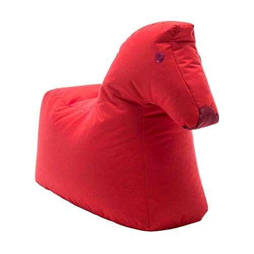 Sitting Bull 190402 Happy Zoo Lotte Pferd Sitzsack, rot 100% Polyester beschichtet LxBxH 81x67x37cm