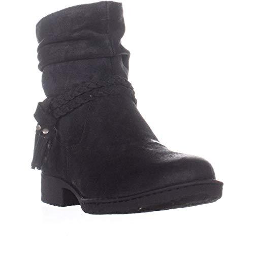 Price comparison product image BORN Womens Ouvea Leather Closed Toe Ankle Fashion Boots,  Black,  Size 7.5