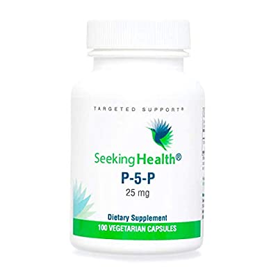 Seeking Health | P-5-P (pyridoxal 5'-Phosphate) | 25 mg Active Vitamin B6 Supplement | 100 Vegetarian Capsules