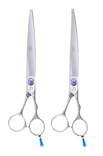 ShearsDirect Japanese 440C Stainless Steel Grooming Shears with Opposing Handles (Set of 2), 10""