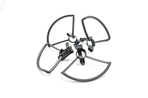 vhbw 1x Set de protección Rotor de plástico Gris para Drone, multicóptero, cuadróptero dji Spark