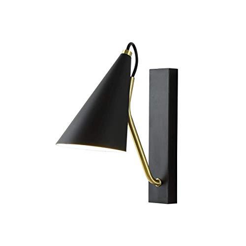 ZZYJYALG Luz de pared moderna de hierro E27, lámparas de noche para dormitorio en interiores, luces de pared decorativas para sala de estar, baño de cocina, habitación de hotel cafe