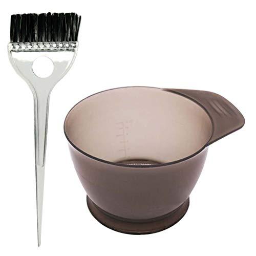 Artibetter 2pcs professionnel de coloration des cheveux kit de teinture brosse de teinture brosse outil de teinte bol
