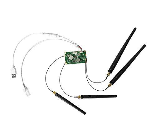 VONETS VM5G Módulo Wifi de doble banda 2.4G / 5G Puente inalámbrico Ethernet Wifi Router / Repetidor Wifi Hotspot Adaptador RJ45 con 4 antenas para bricolaje Ingeniería PS3, Dispositivo de red