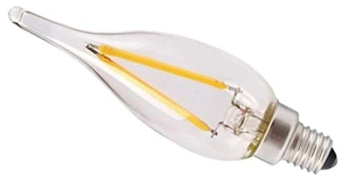 Girard Sudron 711618-LED - Bombilla LED (casquillo Edison, casquillo E14, 22 mm, 100 lúmenes, 1 W, casquillo Edison), transparente y blanco cálido