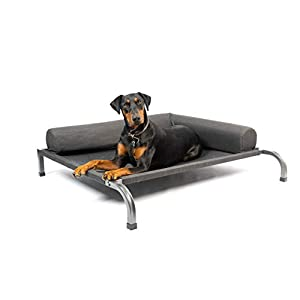 PetFusion Ultimate Elevated Outdoor Dog Bed | Large or Extra Large | Durable Steel Frame | 370 GSM Breathable, Water Resistant Polyester | Incl Protective Cover | 12 Month Warranty
