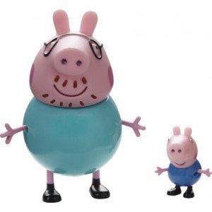 Peppa Pig. Pack figuras George y Papá Pig [Juguete]