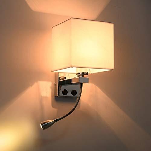 ZTH Creative Minimalista Sala de Estar Dormitorio Lámpara de Cama Lámpara de Lectura del Hotel, Lámpara Color: Single Tube Blanco