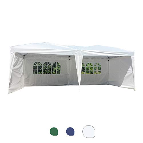 Peachtree Press Inc 20x10 Feet Shelter Pop Up Canopy Outdoor Gazebo Instant Tent with Removable Sidewalls UV Coated, Carry Bag