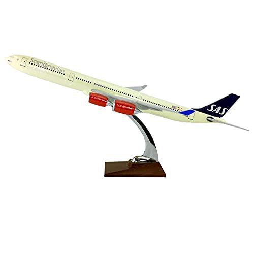 Planes Model Kits Diecast Airplane para Adultos 1: 127 Modelo de Escala (47cm) Modelo de avión de Resina SASA A340-600 para DECURACIÓN O Regalo