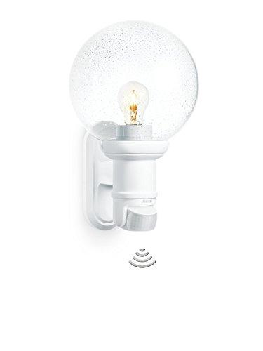 Steinel L 560 S Blanc - Luminaire extérieur à détecteur de mouvement, applique murale, angle de détection 140°, E27