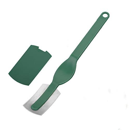OUBORUI - Cuchillo curvo para masa de pan, con cuchilla de acero al carbono curvado, herramienta para hornear