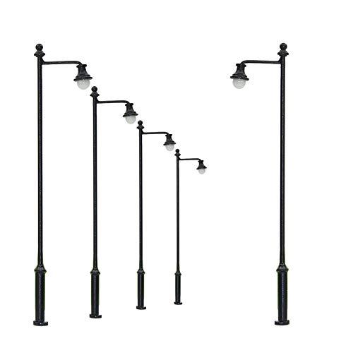 Evemodel 5 STK. LED Lampen 88mm Spur H0 / TT / 00 Leuchte Straßenlampen LYM34-5-EU