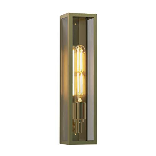 Astro Harvard - Lámpara LED de pared exterior, latón natural, IP44, E27