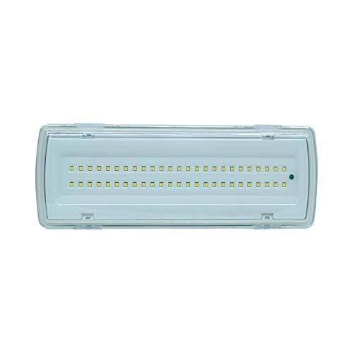 LAMPADA PLAFONIERA EMERGENZA 50 LED 4W 406LM INCASSO PARETE 91062