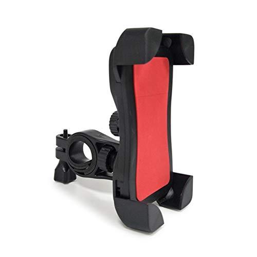 laoonl Soporte universal para teléfono de motocicleta de bicicleta, ajustable 360 ° giratorio anti-sacudidas Super estable soporte para teléfono celular