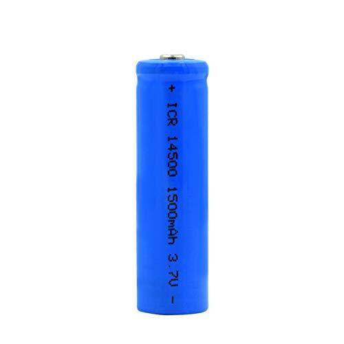 TTCPUYSA 3.7v 1500mah ICR 14500 Batería De ión De Litio Superior En Punta Azul, Recargable para MicróFono De Banco De Potencia 1pc