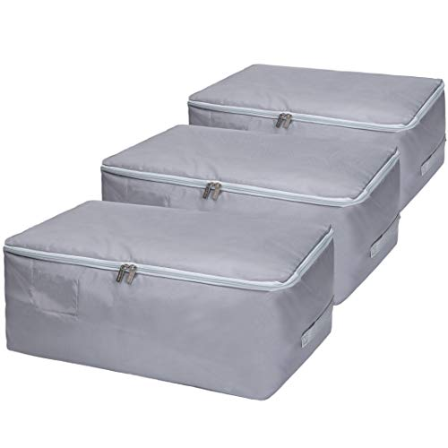 3-Pieces Large Under Bed Storage Bags