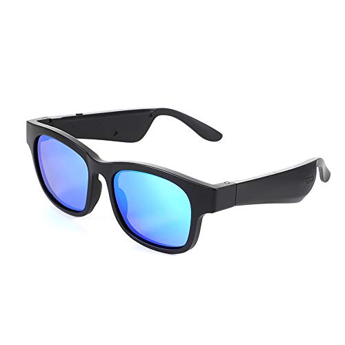 Bone Conduction Bluetooth Brille Sport Polarisierte Sonnenbrille Stereo Musik Wireless Wasserdicht für Männer Frauen,E