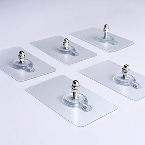 QAZLP Gancho de Pared sin Costuras Impermeable Transparente Duradero Colgador de baño de Cocina 2PCS 10mm