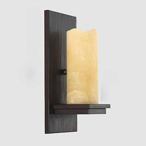 CKH Wandlamp, rustieke stijl, voor slaapkamer, nachtkastje, retro, klein marmer, ijzer, lichaam