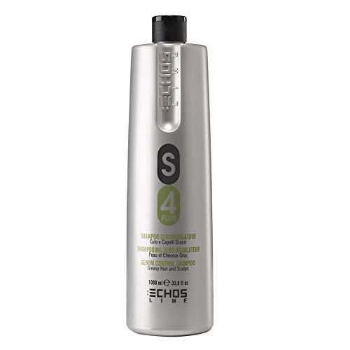 S4 Plus Shampoo Seboregolatore Cute e Capelli Grassi 1000 ml Echosline