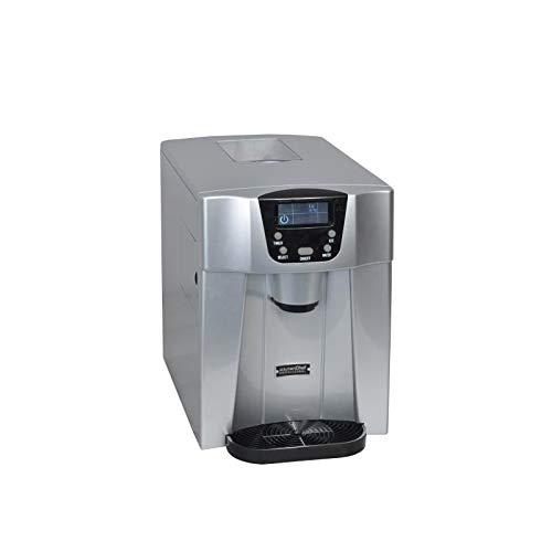 Kitchen chef - hzb12eau - Machine à glaçons 140w 12kg/24h et distributeur d'eau silver