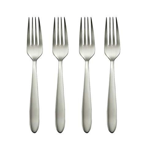 Oneida Mooncrest Dinner Forks, Set of 4 B336004A, Silver, Set of 4, Dinner Forks