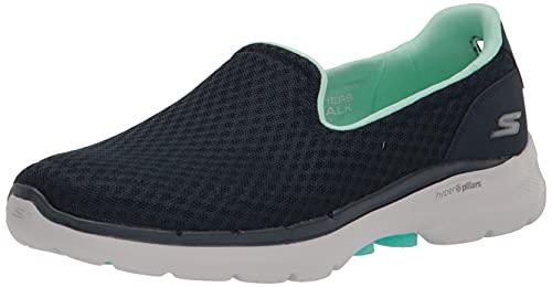 Skechers GO Walk 6 Big Splash, Zapatillas Mujer, Navy, 38 EU